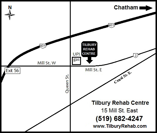 Tilbury Rehab Map Chiropractor Physiotherapy Massage Therapy